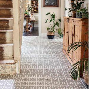lattice pebble grey hallway