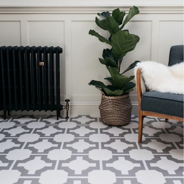 stone parquet floor
