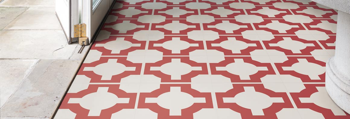 Red designer flooring - Neisha Crosland Parquet