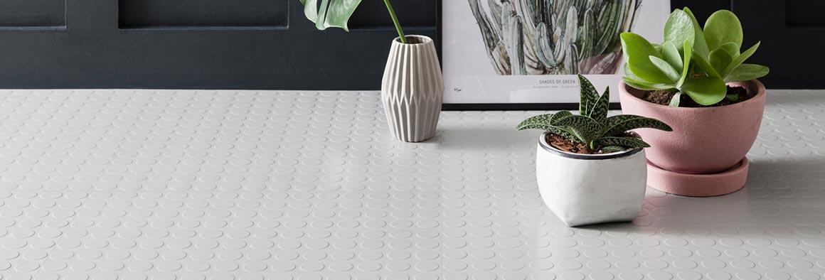 Textured Flooring - Grey Rubber Tiles