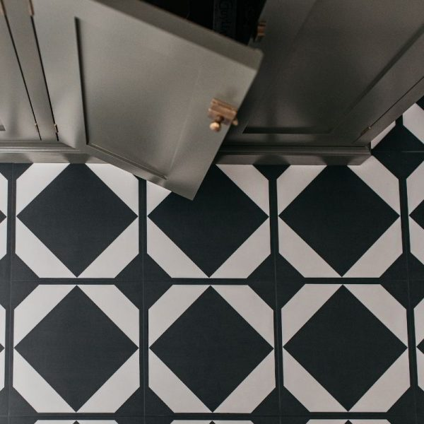 black and white dovetail flooring