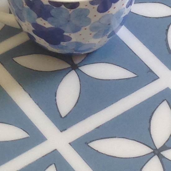 Blue floor design