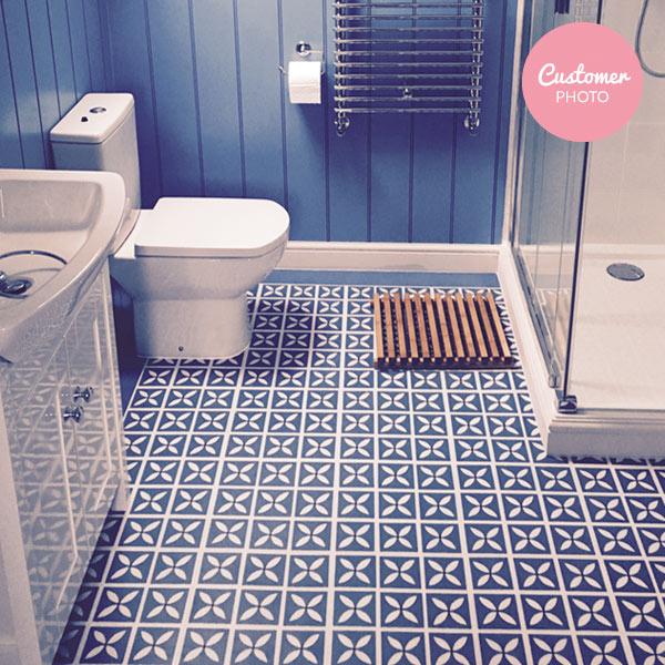 Lattice Cornflower Blue Flooring Design By Dee Hardwicke For
