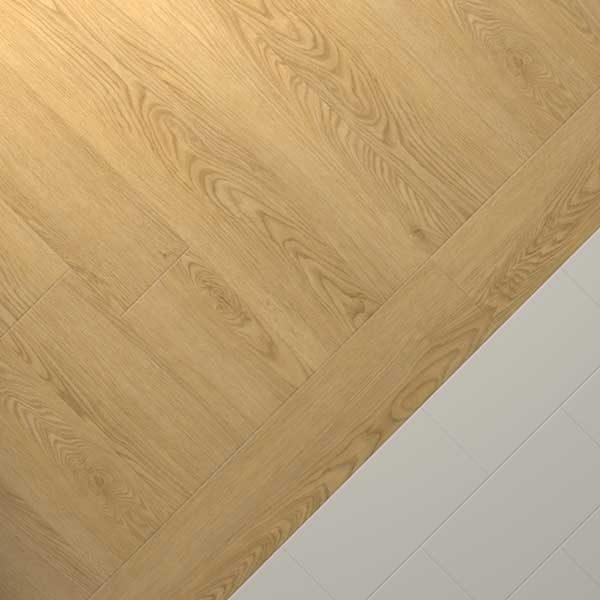 vinyl oak planks with grey coloured floor