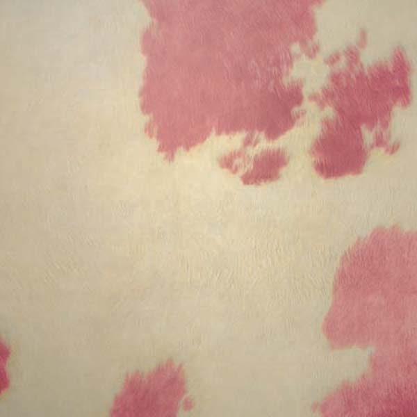 Cow hide vinyl floor tile in pink
