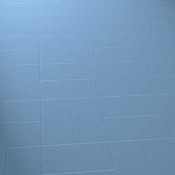 Dark blue floor in basket laying pattern