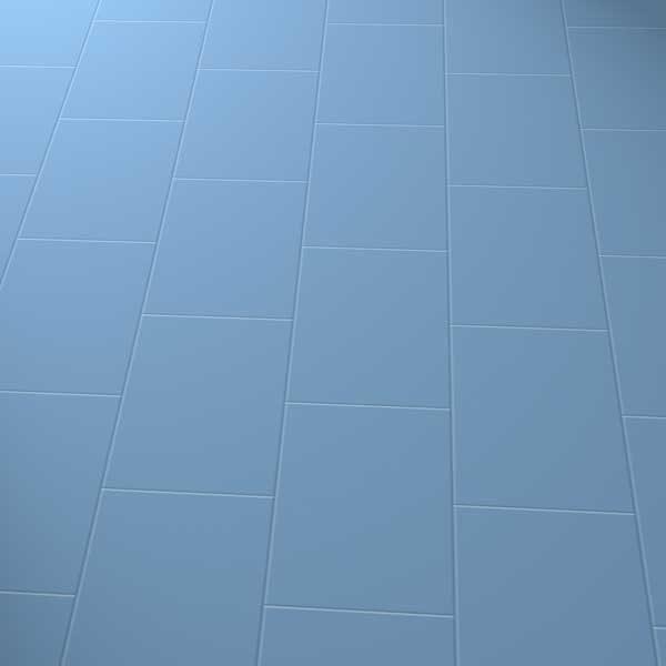 Dark blue floor in brick laying pattern