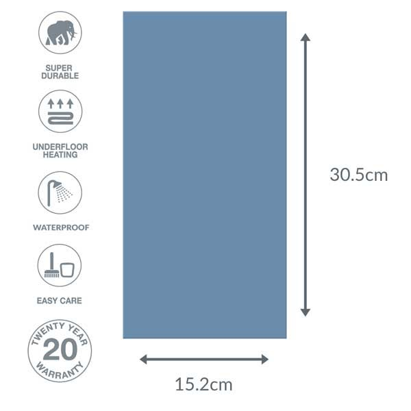 Blue flooring dimensions