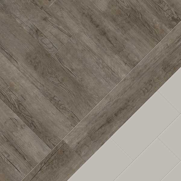 Wood with plain tile border