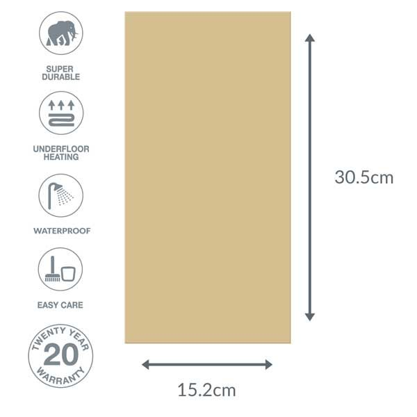 Beige floor dimensions