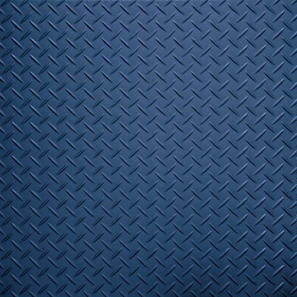Dark blue tread plate vinyl tile