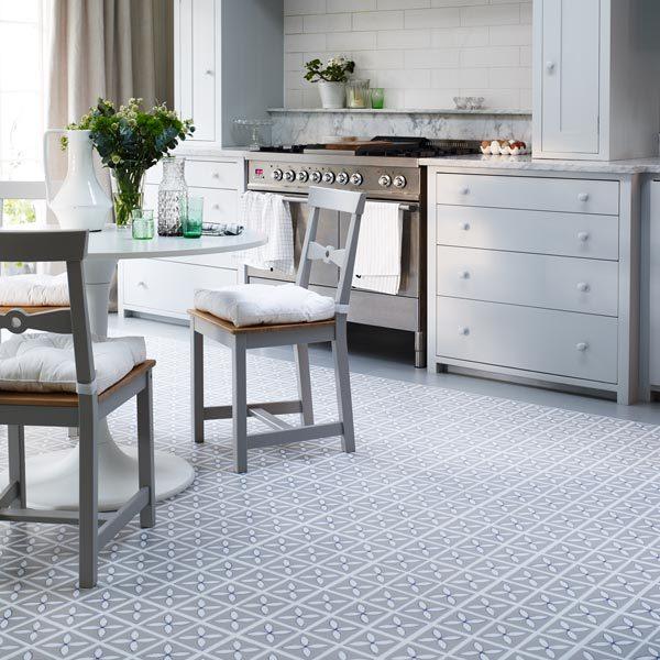 Pebble Grey designer floor in a kitchen