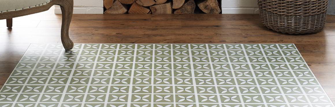 Green designer vinyl flooring