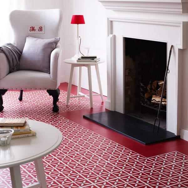 Lattice Cherry Red Flooring Design By Dee Hardwicke For Harvey Maria