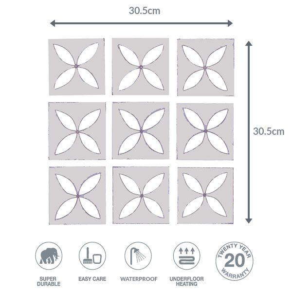 Pebbley Grey flooring dimensions