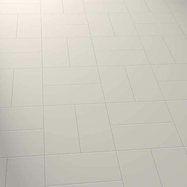grey vinyl tiles in a basket pattern