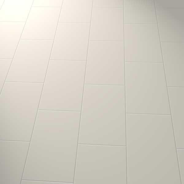 grey vinyl flooring in a brick pattern