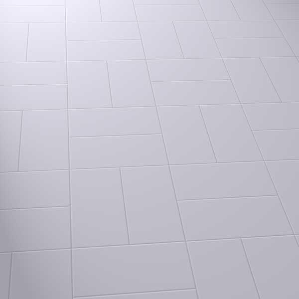 vinyl floor in a basket pattern