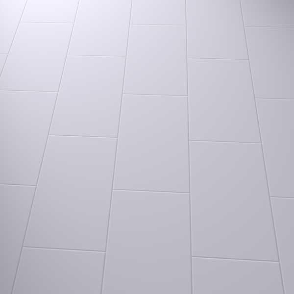 vinyl flooring in a brick pattern