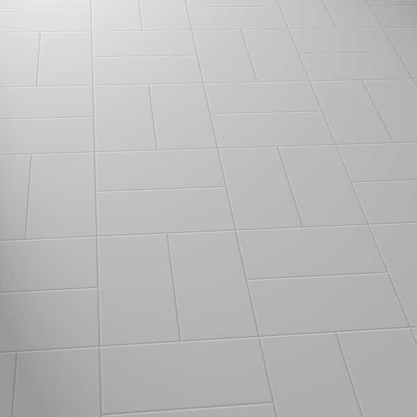 grey vinyl flooring in a basket pattern