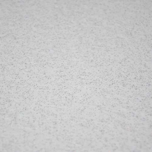 White sparkle vinyl floor tile