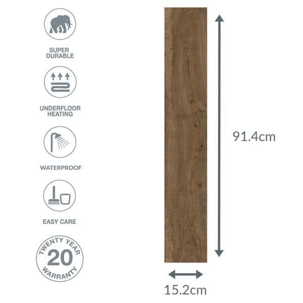oak floor dimensions