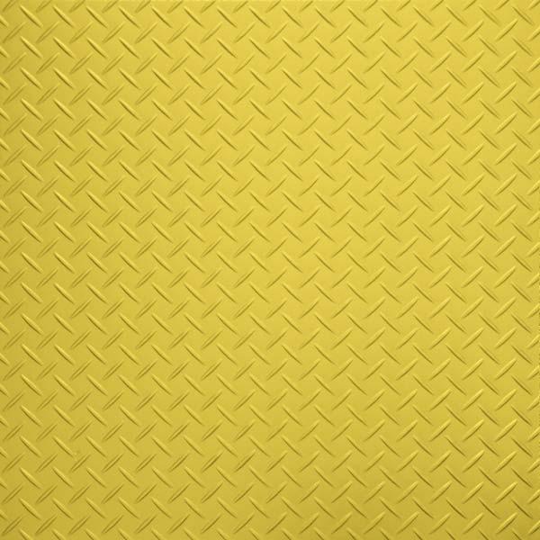 Yellow Checker Plate Vinyl Flooring Tiles 44 90 Per Square Metre