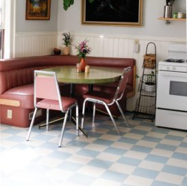 Blue & White Retro Flooring