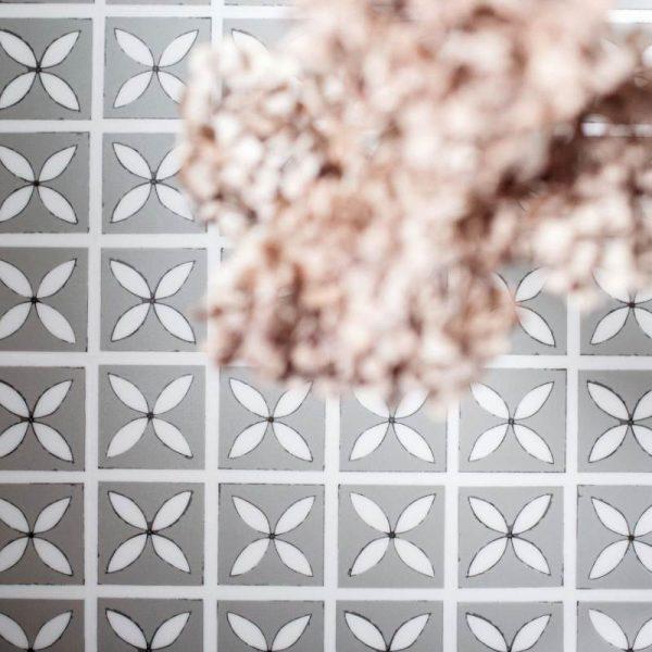LVT Bathroom Flooring - Lattice Mist Pattern