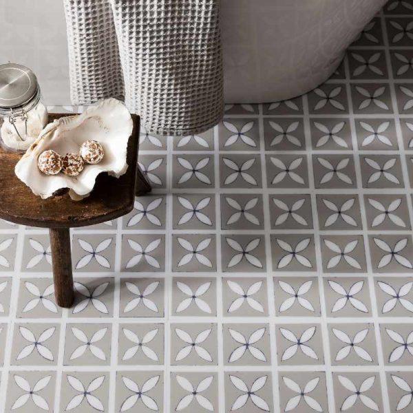 Pebble Gray Flooring in a Bathroom