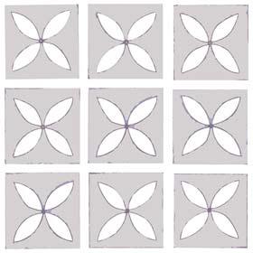 lattice patterned vinyl tile