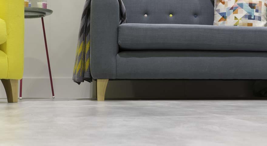 concrete effect living room floor tiles