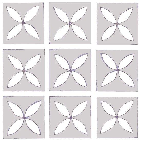 grey lattice floor tile