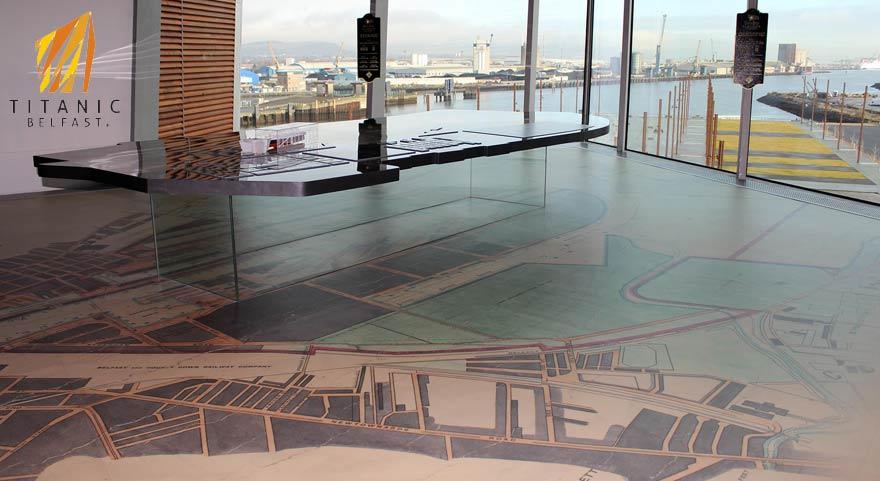custom pritned flooring in a modern reception