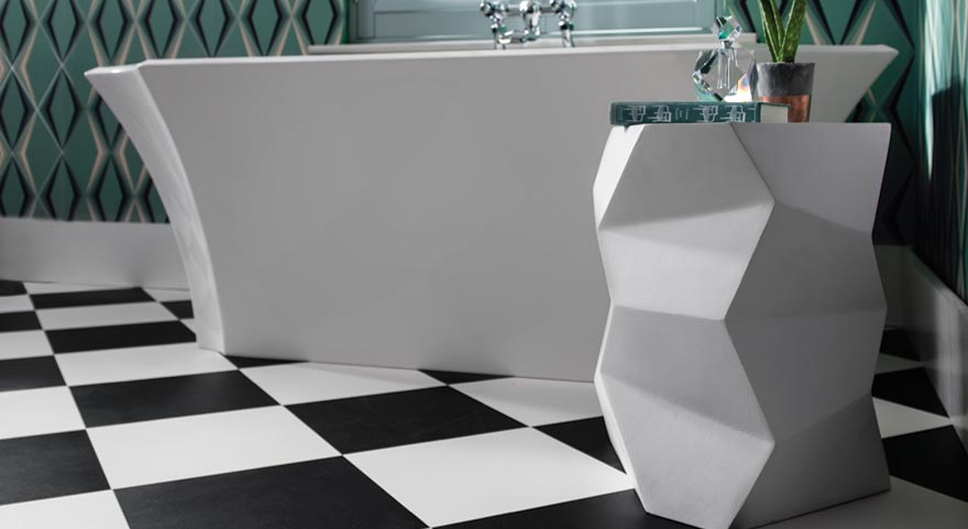 Black White Checkered Vinyl Flooring Harvey Maria