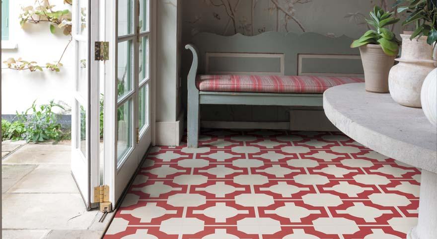 red designer vinyl conservatory floor
