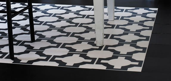 black white designer flooring