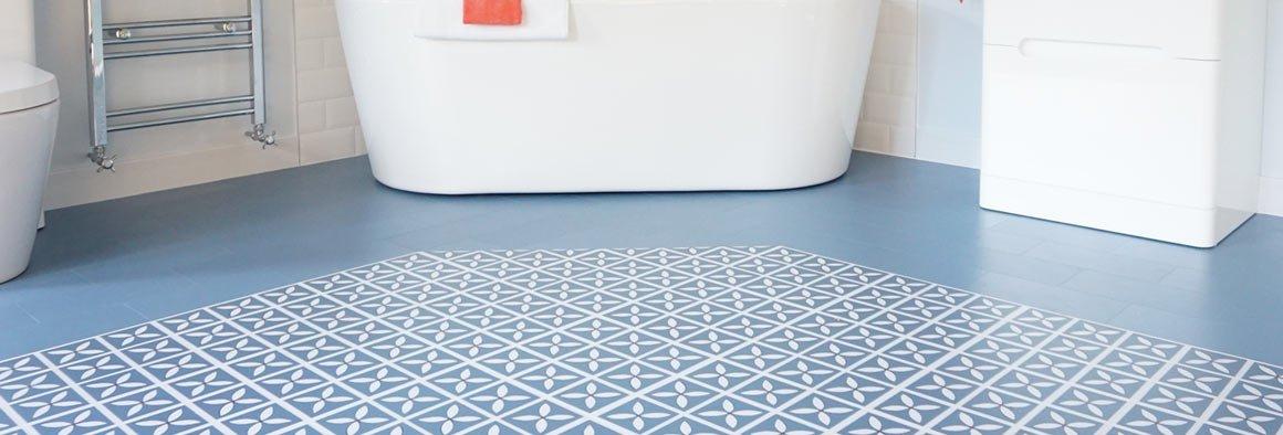 Blue Vinyl Flooring Tiles Harvey Maria