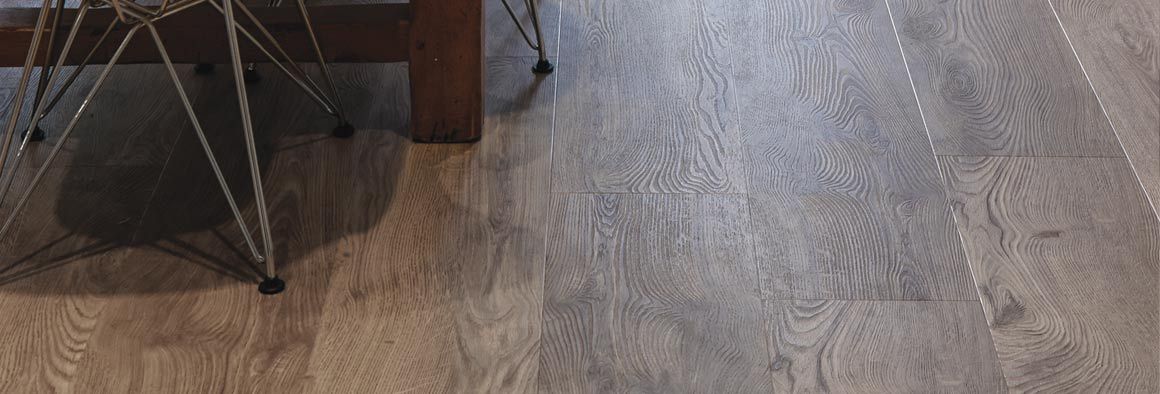 Brown flooring - wide wood effect planks
