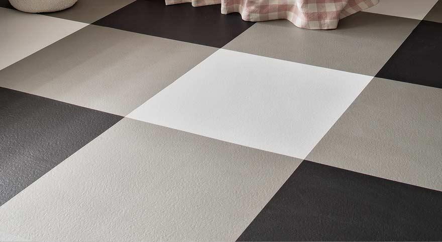 black and white checkered vinyl flooring