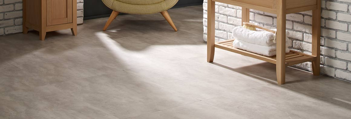 Concrete & Stone Effect Vinyl Flooring Tiles | Harvey Maria