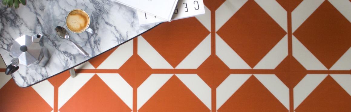 orange pattern flooring