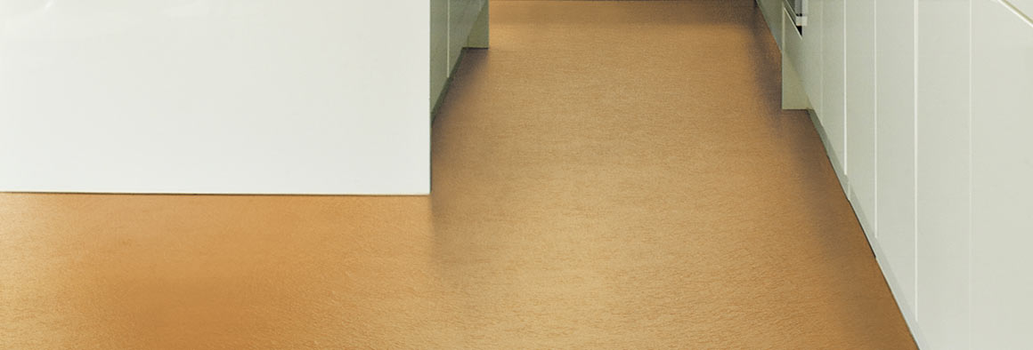 Orange vinyl floor with texture