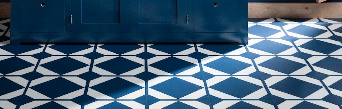 oxford blue patterned vinyl flooring