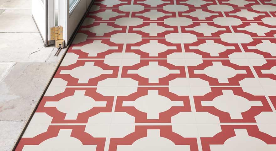red designer retro flooring