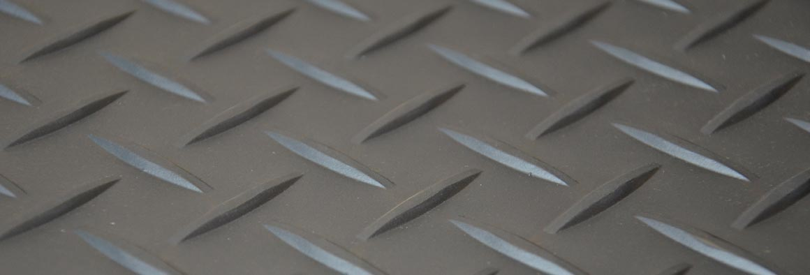 Tread Plate design in gun metal colour