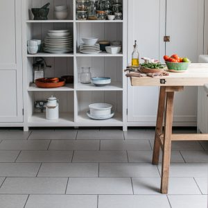 Kitchen featuring Organic Stone Cambrian flooring with Dark Grey Feature Strip
