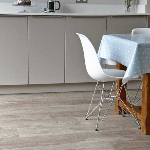 aged oak in modern neutral kitchen space