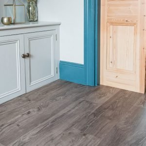 living room wood effect floor planks with decorative storage