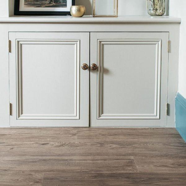 aged oak wood floor in modern living room